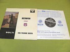 Beethoven - Symphony No. 5 / Solti / UK 1959 ED1 WB Decca SXL 2124 STEREO 1K/1K