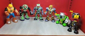 """Mattel Fisher Price RESCUE HEROES 6"""" Action Figures vintage lot of 6 2000-2005"""