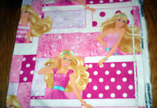 New ** Barbie Doll ** Portraits on Pink - LARGE PRINT -  Fleece fabric - bty
