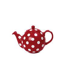 London Pottery 2 Tasses Globe CeramicTeapot rouge à Pois blancs Théière 0,5L