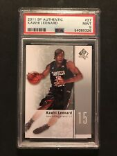 New listing 2011 SP AUTHENTIC #27 KAWHI LEONARD RC Rookie PSA 9 San Antonio Spurs
