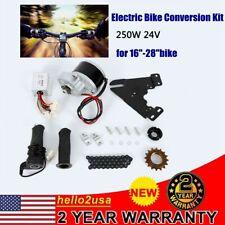 Electric Bicycle E-Bike 16-28inch Wheel Motor Conversion Chain Kit 24V 250W