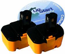 2x New Ryobi 14.4v ni-cd Battery 130224010, 1400144, 4400011, CTH1442K2, HP1441M