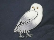 Snow Owl Arctic Iron On Fleece Applique Patch