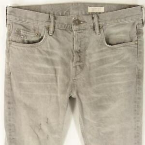Mens AllSaints GOREE CIGARETTE Stretch Slim Skinny Grey Jeans W32 L32