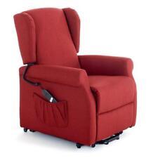 Poltrona elizabeth relax recliner in tessuto rosso con motore elettrico per cas