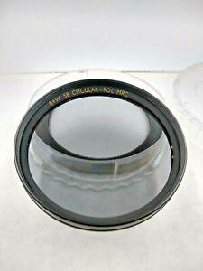 B+W 58mm Thick Rim Circular-Pol MRC Lens Filter Circular Polarizer F-Pro Germany