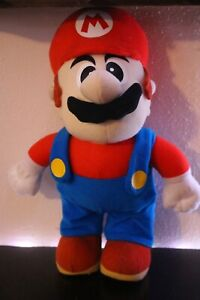 "Super Mario Bros MARIO 12"" Soft Plush Doll Figure KellyToy 2002 Nintendo Toy"