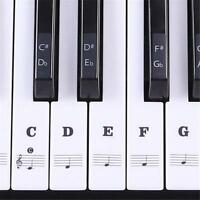 Music/Piano Keyboard Stickers 88/61/54 Beginner Memory Help Audio Name Scale