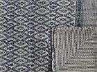 Indian Block Print Ikat Kantha Quilt Indigo Bedding Boho Ethnic Blanket Gudari