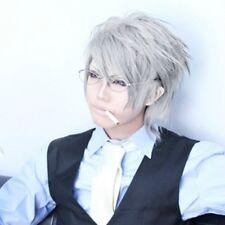 LY_601 Junjou Romantica Pure Romance Akihiko Usami Short Grey Cosplay Hair Wig