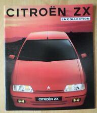 CITROEN ZX range 1991 French Market prestige sales brochure