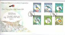 ZIMBABWE, 1998 BIRDS OF ZIMBABWE, SG 974-979, ON ILLUSTRATED FDC