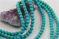 """16"""" Howlite Turquoise Loose Beads Round 8mm TURQUOISE GREEN *FREE SHIPPING"""