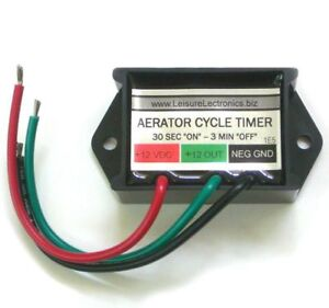 Leisure Electronics LWS-M Boat Livewell Aerator Pump Timer Module New