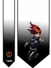 L@@K! Black Widow Satin Neck Tie - Avengers Agent of SHEILD Natalia Romanova