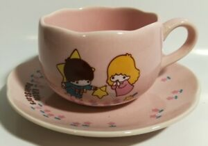 Vintage Little Twin Stars Kiki & Lala Mini Cup & Saucer 1976 USED From Japan