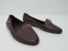Melissa Virtue III Spiked Burgundy Jelly Flats Loafers Size Women's 35/36