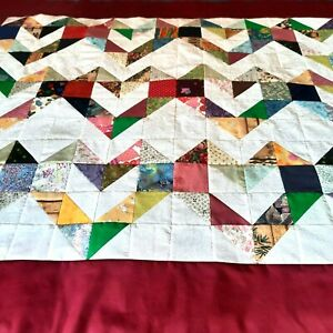 New Easy to finish Heart square quilt top Lap Blanket Rose border