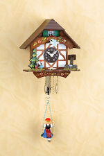 Orologio con altalena dipinto a mano Black Forest Foresta nera Bollenhut