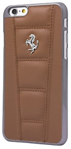 """Ferrari 458 Brown  Stitching Real Leather Hard Case For iPhone 6 / 6s 4.7"""""""