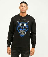 Kings Will Dream Mens New KWD Crew Neck Sweatshirt Long Sleeve Black Blue Demon