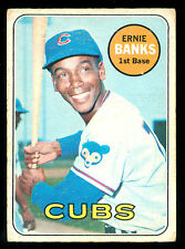 1969 TOPPS OPC O PEE CHEE BASEBALL #20 ERNIE BANKS VG-EX CHICAGO CUBS CARD