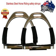 Horse Riding  Stainless Steel Bendy Irons  Safety Saddle Stirrups  Pair