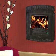 Brand New Heritage Dunmore 5kw Wood Log Burner Inset Stove Heater Matt Black
