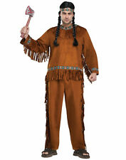 Native American Indian Fringe Adult Mens Halloween Thanksgiving Costume