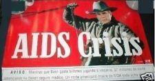 GRAN FURY AIDS Protest Cowboy Poster Spanish George Bush