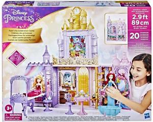 Disney Princess Fold N' Go Celebration Castle Playset & Accessories New Xmas Toy