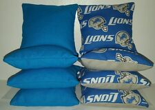 SET OF 8 DETROIT LIONS CORNHOLE BEAN BAGS!! ***FREE SHIPPING!!***