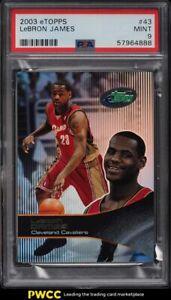 2003 eTopps Basketball LeBron James ROOKIE RC /10000 #43 PSA 9 MINT