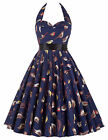 Women Vintage 50'S Plus Size Retro Swing Pinup Evening Cocktail Party Prom Dress