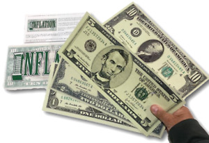 """Deluxe 13"""" LAMINATED JUMBO INFLATION BILLS Fake Money Stage Comedy Magic Trick"""