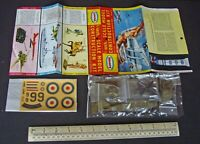 c1960 Aurora Playcraft GB 1:48 Scale SE-5A Scout Fighter Plane WW1. Bagged Kit