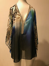 NWOT!!! JUS D'ORANGE  blouse Multicolor top size 1!!! CAMDAY