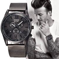 Men's Fashion Luxury Watch Stainless Steel Date Sport Analog Quartz Wristwatches