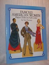 Famous American Women Paper Dolls in Full Color by Tom Tierney 1987