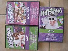 32466/LOT 3 DVD KARAOKE 2015 LA FETE + 2015 VOLUME 1 + 2 EN TBE