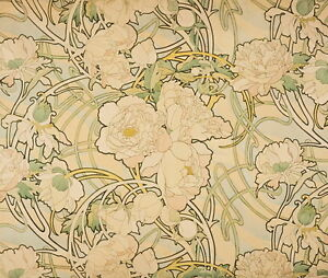 Alphonse Mucha Peonies Giclee Canvas Print Paintings Poster Reproduction Copy