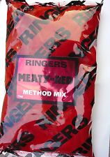 Ringers Winter Meaty Red Method Groundbait Mix - 1000g Bulk Pack