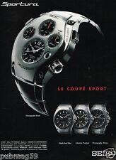 Publicité advertising 2001 Les Montres Seiko Sportura