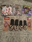 Spirit Halloween Zombie Costume with Wig, Guts, Feet Sleeves and Makeup, New