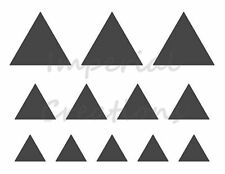 """""""TRIANGLE"""" Shape 3 Different Sizes 8.5"""" x 11"""" Stencil Plastic Sheet NEW S8"""