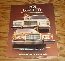 Original 1975 Ford LTD Sales Brochure 75 Landau Brougham