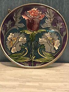 """New- AMIA Stained Glass Suncatcher 4.5"""" ROUND- Flower Theme"""