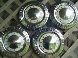 1958 58 PONTIAC CHIEFTAIN SAFARI STAR CHIEF HUBCAPS WHEEL COVERS CENTER CAPS