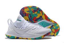 NEW RARE Men's Curry 5 Confetti White Basketball Sneakers Size10.5 3020657-109